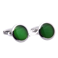 Promotional Green Opal Cufflinks as Valentines Day Gifts