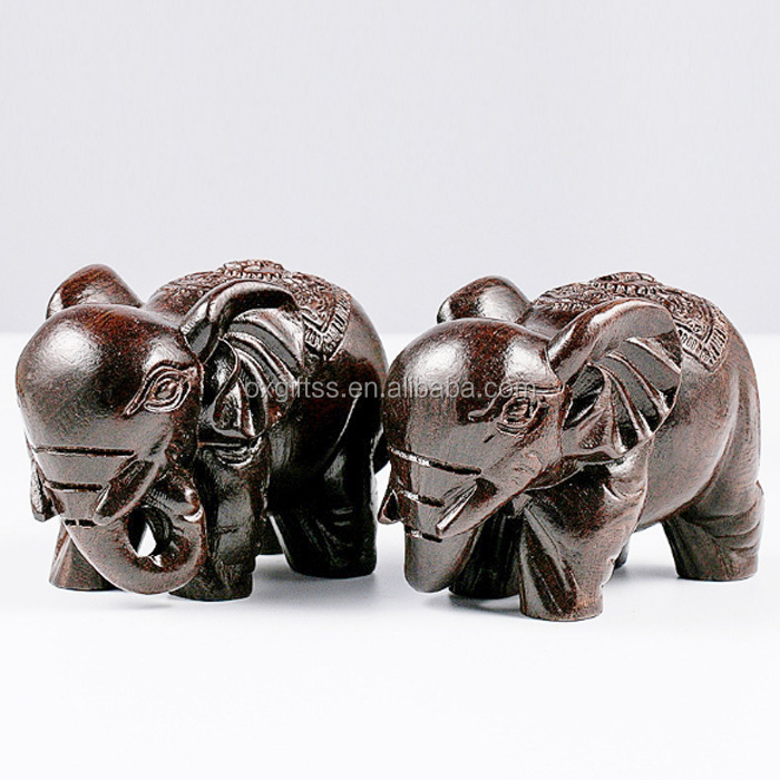 OXGIFT China Wholesale Factory Price Amazon Wooden elephant craft gift decoration
