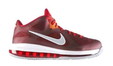 310026d76e0 Get Quotations · Lebron 9 Low (Team Red Challenge Red-Wolf Grey)