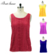 compression blank 60% cotton 40% polyester custom logo crop tank tops for women