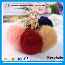 New Wholesale custom Faux Fox Fur Pom Flurry key chain