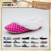 Wholesale Winter Ladies Soft-soled Footwear Upper Design with Cuff