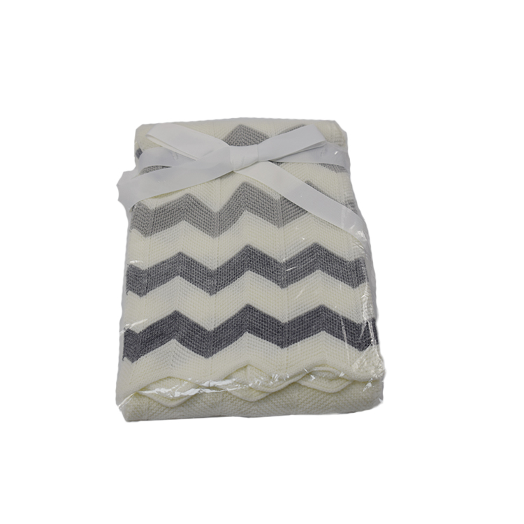Environmentally Friendly Super Soft Baby Swaddle Cotton Blanket,Custom Knitted Baby Blanket