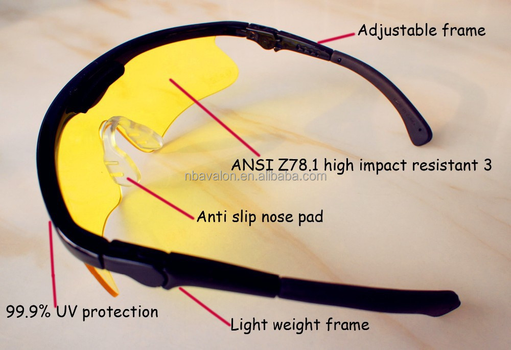 ANSI Z87.1 adjustable safety shooting glasses trade assurance supplier