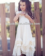 2018 new fashion children frock model white graceful maxi dress ruffle bottom girls party dresses