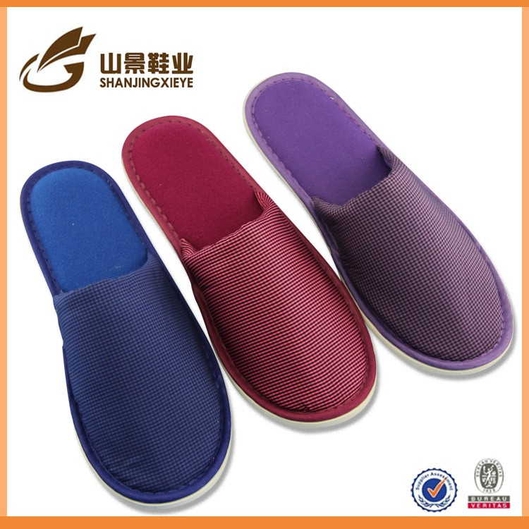 Special design Unique white velour hotel slippers