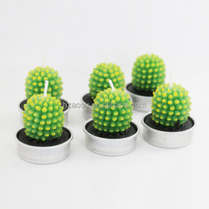 Succulent Cactus Candles Tea Lights 6 Pcs
