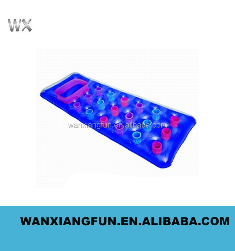 Inflatable floating mattress, 18 holes pvc inflatable floating mat adult water toy