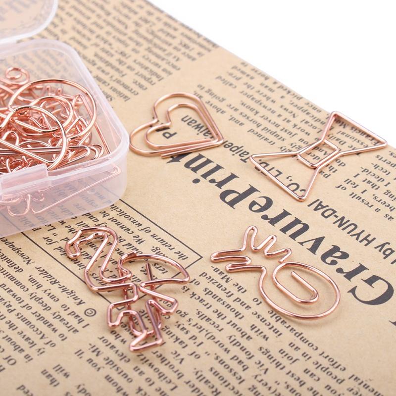 ShenZhen Stargood paper clip factory creative design rose gold metal shape paper clips