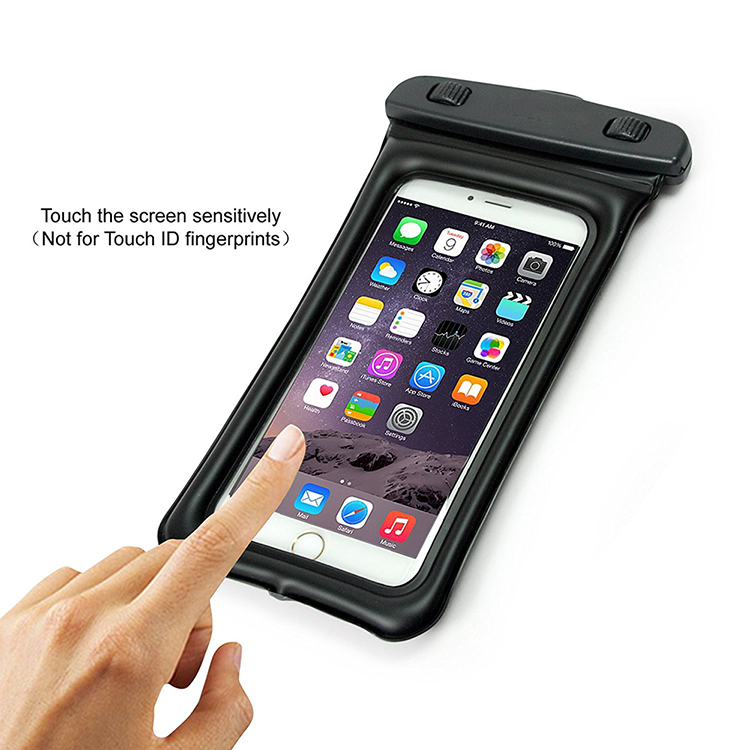 For All Smartphone PVC IPX8 Waterproof Phone Case With Laryand
