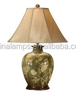 Beautiful Flower Italian Style Gray-green Color Ceramic Table Lamp ...