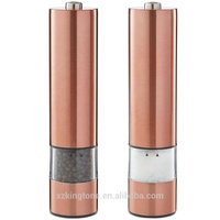 Copper Spice Grinder Stainless Steel Electric Salt and Pepper Mills Flat top