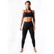 New design black yoga high waist fitness mesh gym leggings