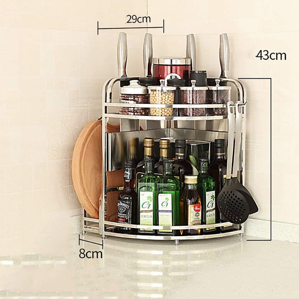 Stainless Steel Corner Shelf Kitchen Small Kitchen Cart