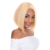 Wholesale pre plucked bleached knots blonde 613 virgin human hair short bob 360 lace wig