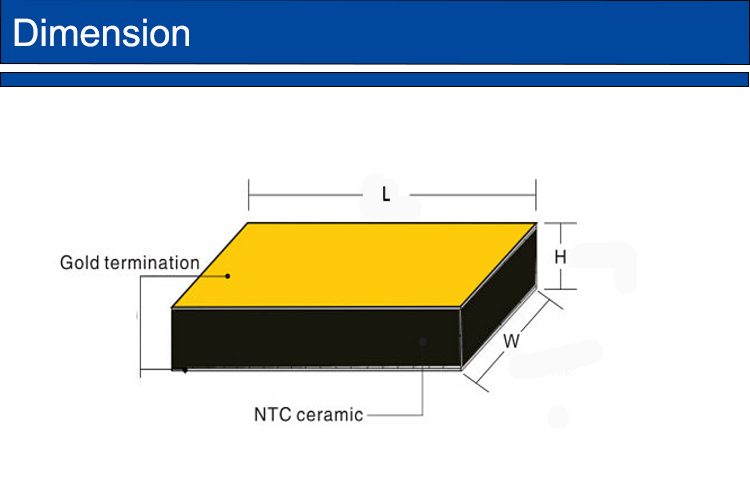 Ceramic leadless chip for thermopile sensors for infrared sensing ntc thermistor chip