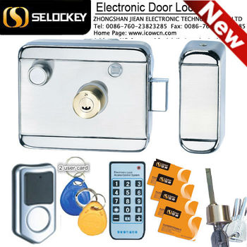 Electric Security Lock With Remote Control Electronic Rim