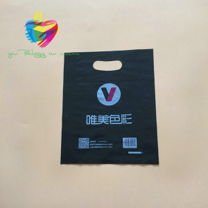 china factory new products die cut handle custom shopping plastic bag