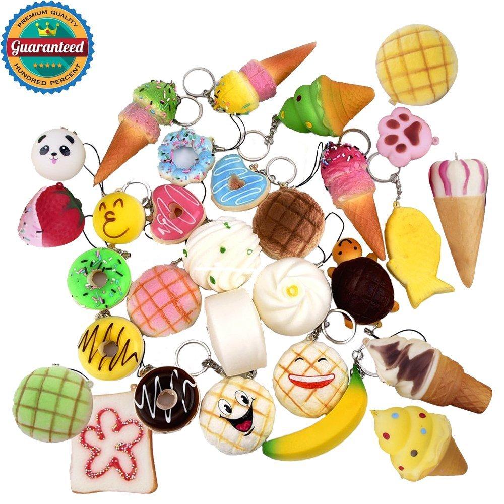 f90534596 Get Quotations · Giraffe 18 Pieces Random Squishy Charms Kawaii Medium Mini  Soft Foods Toy Jumbo Slow Rise Squishies