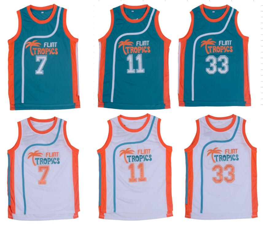 f2fdc0238b1 Retro Basketball Jersey Movie Semi Pro Flint Tropics Jackie Moon 33  Coffee  Black 7