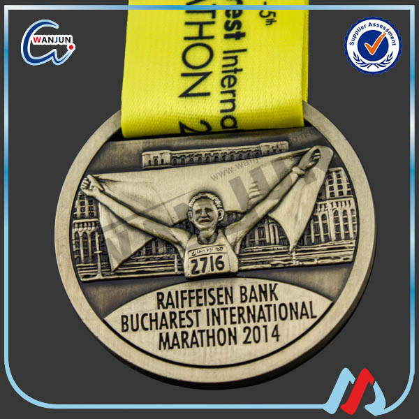 factory direct sale blank zinc alloy marathon medal 5k running winner metal medal