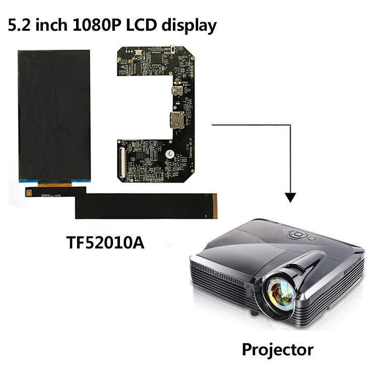 [In Stock]Alibaba Hot selling 5.2inch 1920*1080 Lcd Projector ful hd FOG screen with hdmi  to mipi U board