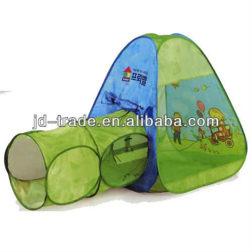 Pop Up Easy Fold Children Play Tent with Tunnel