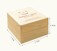 Rectangular wooden box balsa wood box