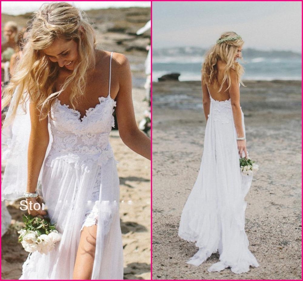 e386362730 Low-Back Beach Wedding Dresses   Fashion Gallery