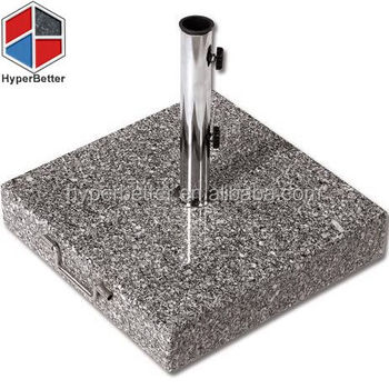 28kgs square granite stone parasol base