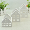 Different houses White ceramic candle holders wholesale