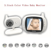 HOT 3 5 inch radio babysitter 2 4GHz Temperature monitor Lullabies IR Night vision 2 way