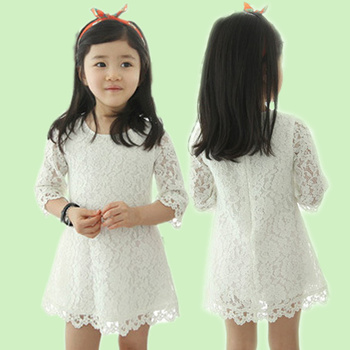 White Wedding Fl Short Dress Baby Lace Dresses Of Korean Style