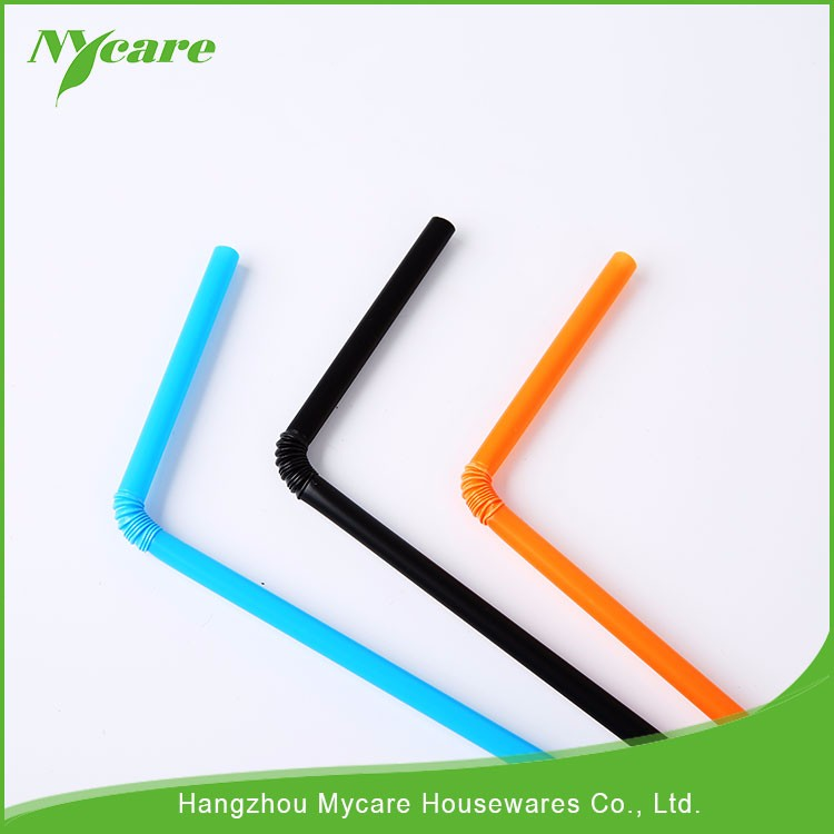 Safety plastic straw, eco-friendly drinking straw, disposable flexible straw