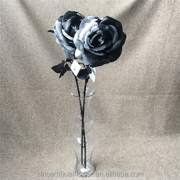 Wholesale artificial silk forever black rose flowers for decoration wholesale artificial silk forever black rose flowers for decoration mightylinksfo