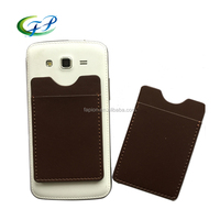 Alibaba china factory leather 3m smartphone credit card holder