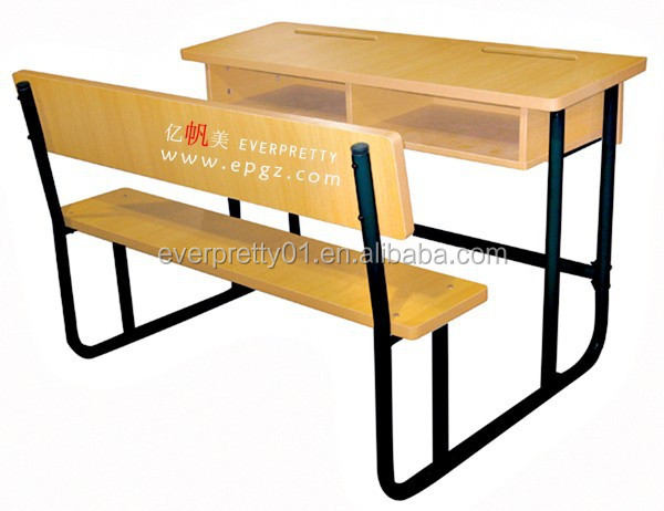 School Furniture Classroom Library Student Wooden Desk And Bench
