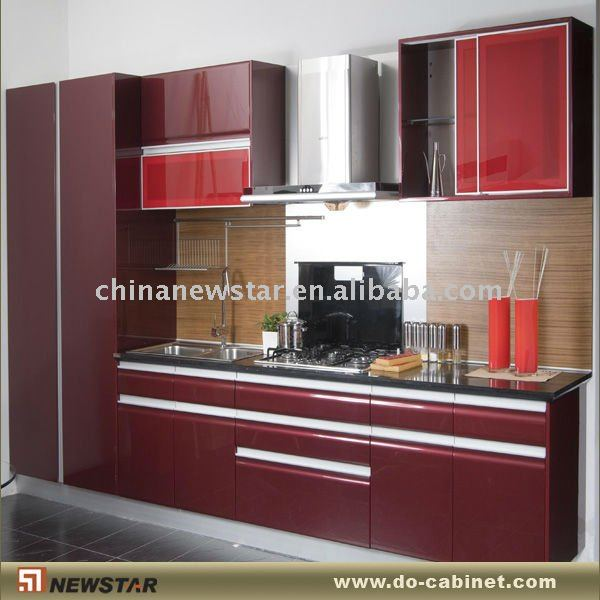 Red Lacquer Paint Cabinets - Buy Lacquer Paint Cabinets,Lacquer ...