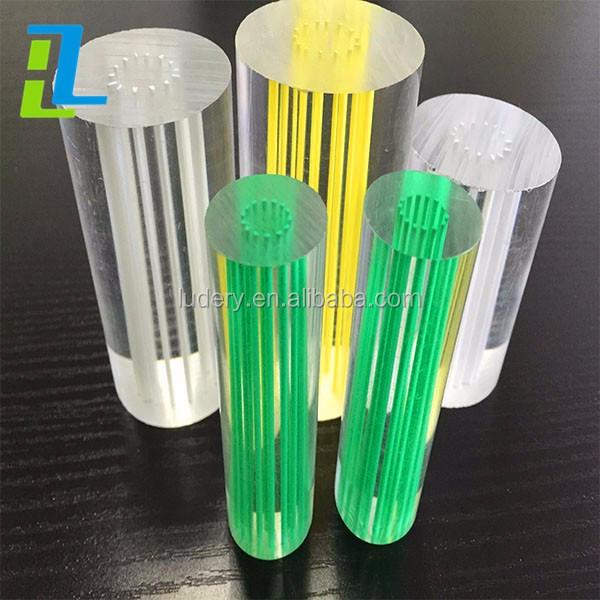 Threaded clear hole acrylic rod solid plastic thin