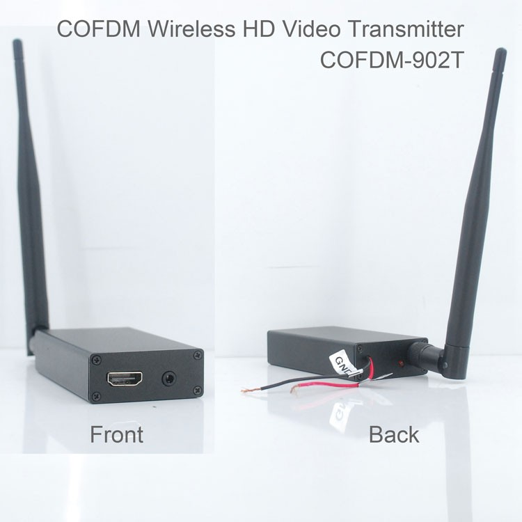 COFDM-902T COFDM HD Wireless Trasmettitore Video 1080 P CVBS composito SD 720 P/1 ~ 5 W di uscita RF