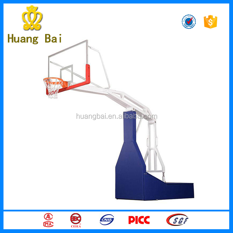 High-quality outdoor fitness equipment manual hydraulic basketball stand
