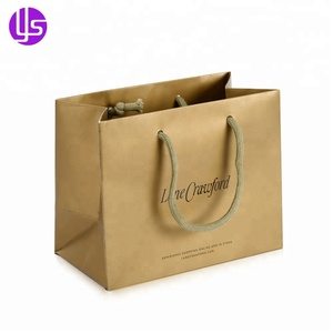 Wholesale Mini Customised Printed UV Coating Boutique Gift Paper Bag with Logo for Jewelry