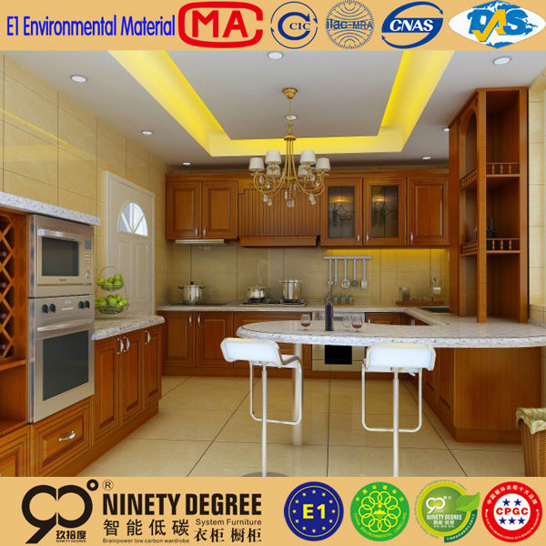 Eco-friendly Arch Design With Drawer Solid Oak Kitchen Cabinet ...