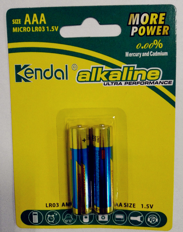 ALKALINE AA 2 PIECE BLISTER PACK BATTERY