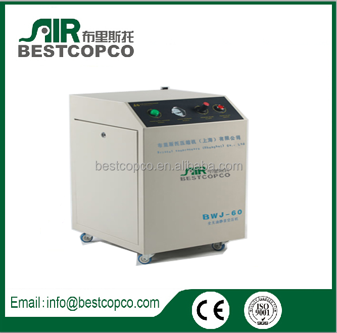 Low noise quiet BWJ-60 220V AC power oil free piston air compressor