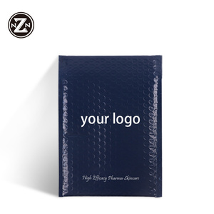 custom printed logo designs decorative matte bubble mailer envelope padded shipping packaging bags for protetives
