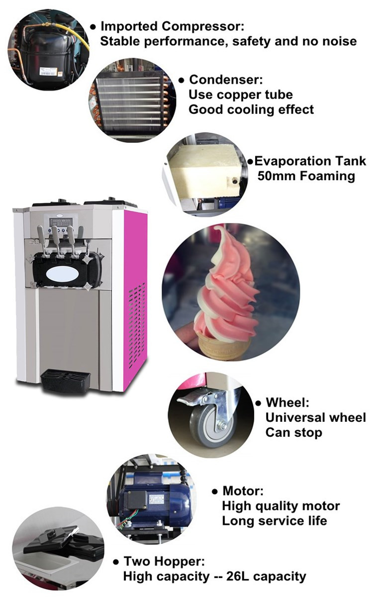2016 good quality instant and flat pan fried ice cream rolls machine parts