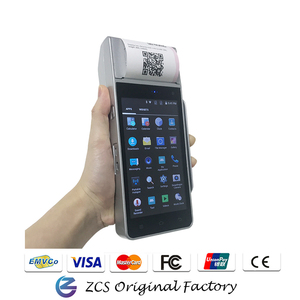 5 inch cheap bus barcode android POS system with ticket printer