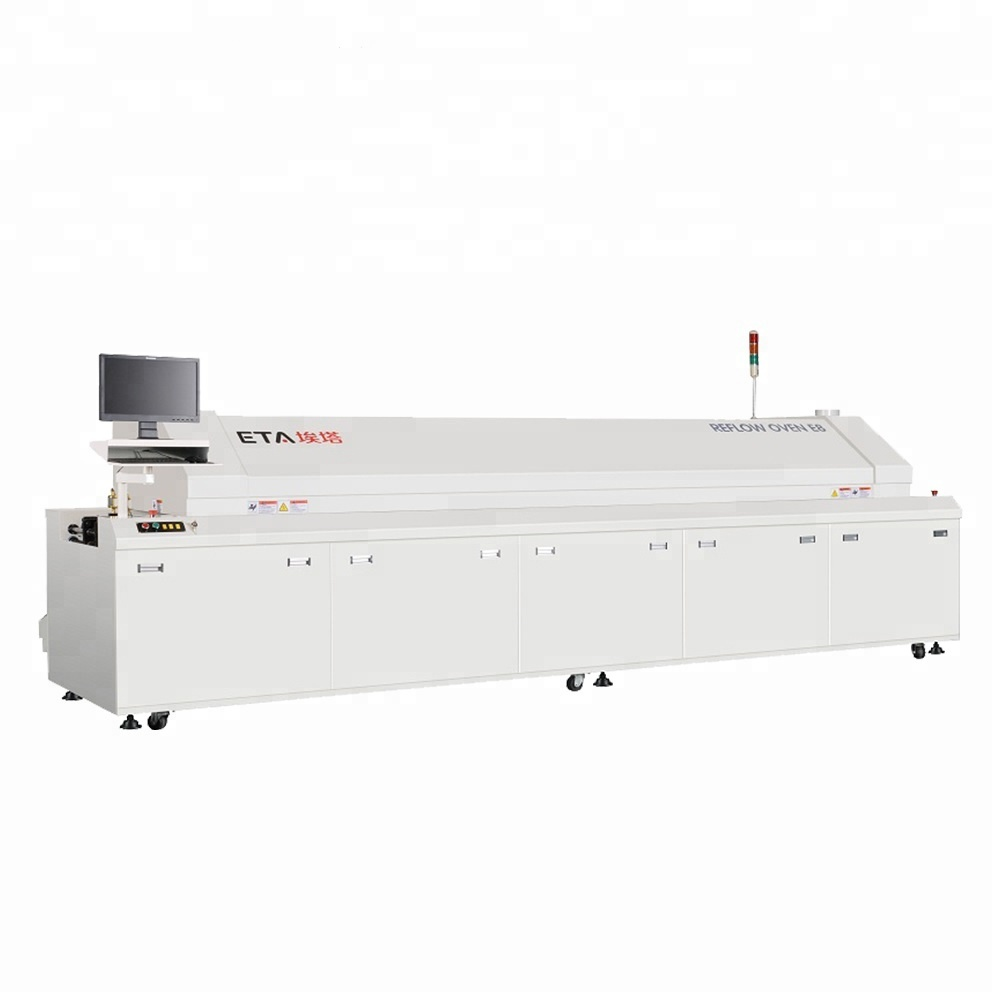 Reflow Soldering Oven Machine 8 Zones SMT Lead Free for SMT Production System