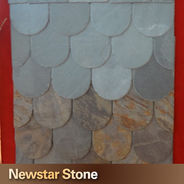 Chinese M class roof tiles fish scale slate roof tiles